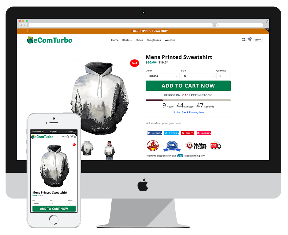 eCom Turbo Theme - Best Shopify Themes For DropShipping